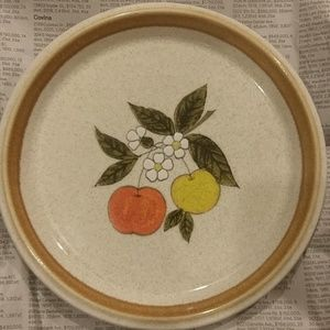 VTG Fruit Flower Print Plate
